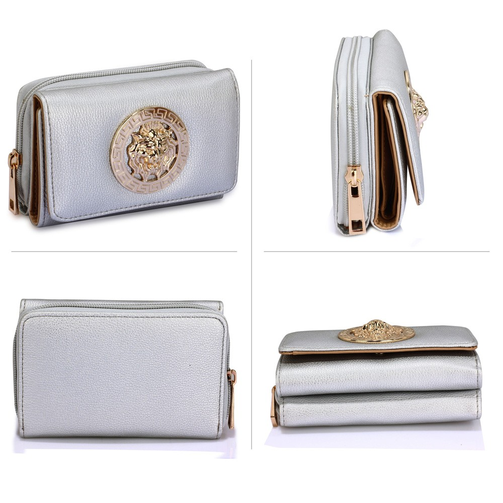 fe10755c8 AGP1064A – Silver Purse/Wallet with Metal Decoration – Silk Avenue ...