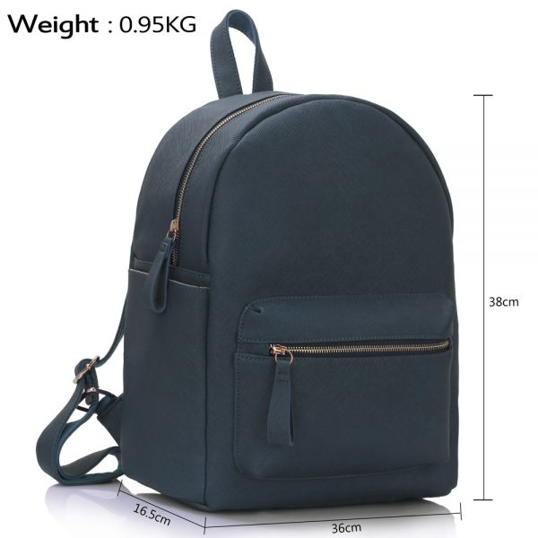 LS00186A  - Navy Backpack Rucksack School Bag