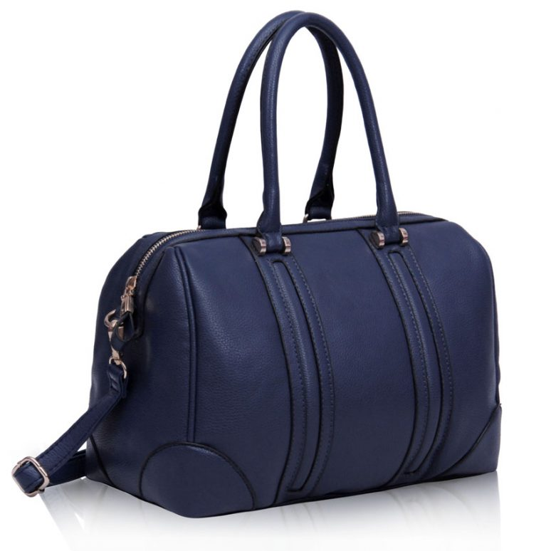 LS00222- Navy Satchel Grab Bag
