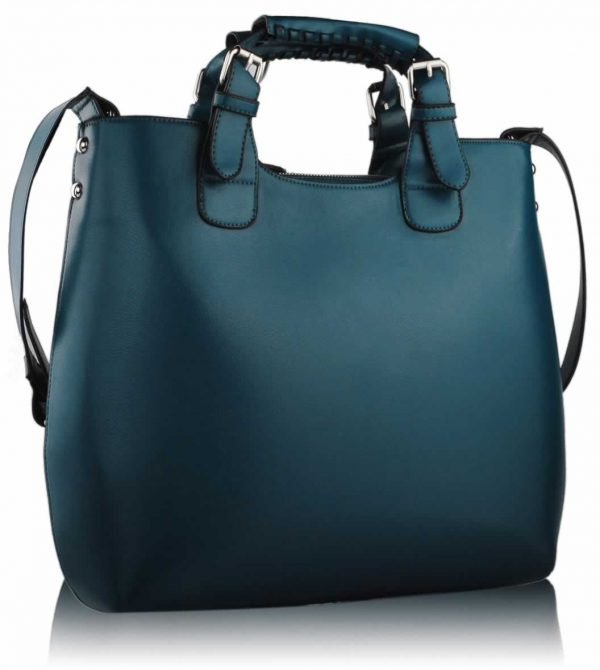 LS00267 - Teal Ladies Fashion Tote Handbag