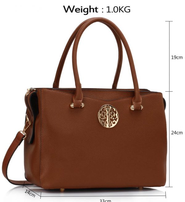 LS00291 - Brown Grab Tote