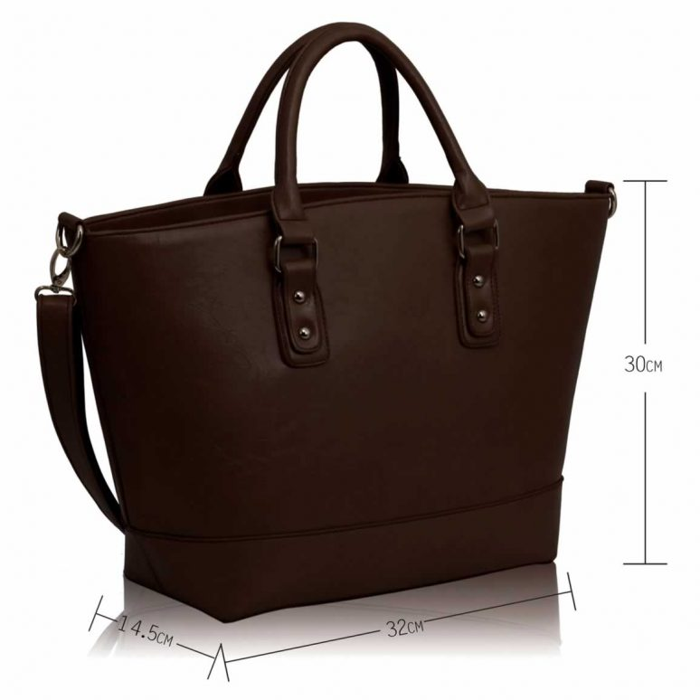 LS0085A- Coffee Fashion Tote With Long Strap