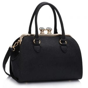 LS00378A - Black Metal Frame Satchel