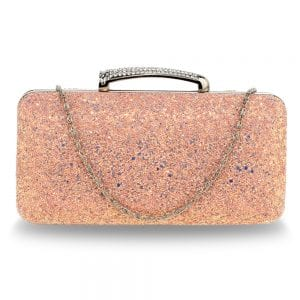 AGC00368 - Pink Glitter Evening Wedding Clutch Box