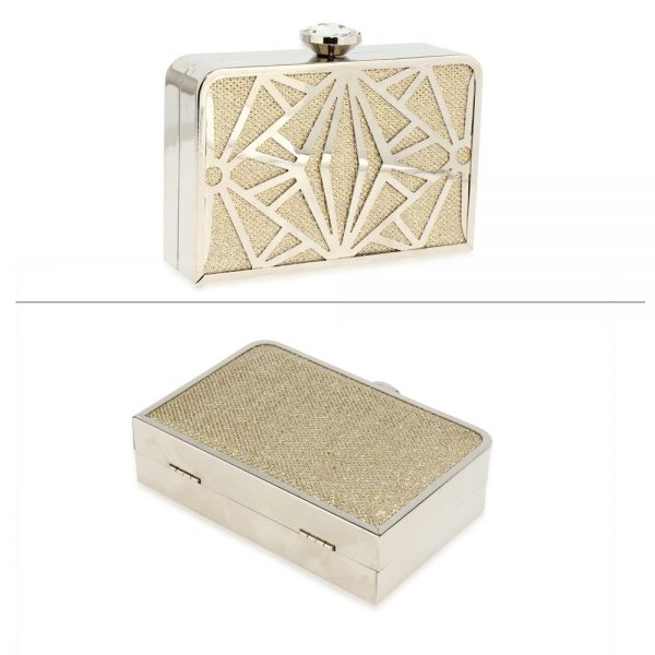 AGC0050A - Gold Hard Metal Box Clutch