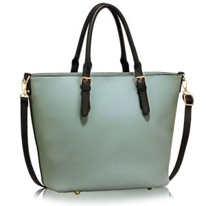 LS00263 - Black / Blue Grab Shoulder Handbag
