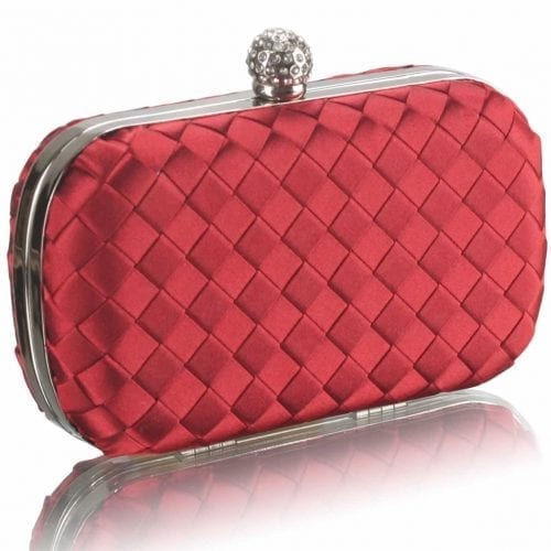 LSE00213 - Gorgeous Red Hard Case Evening Bag