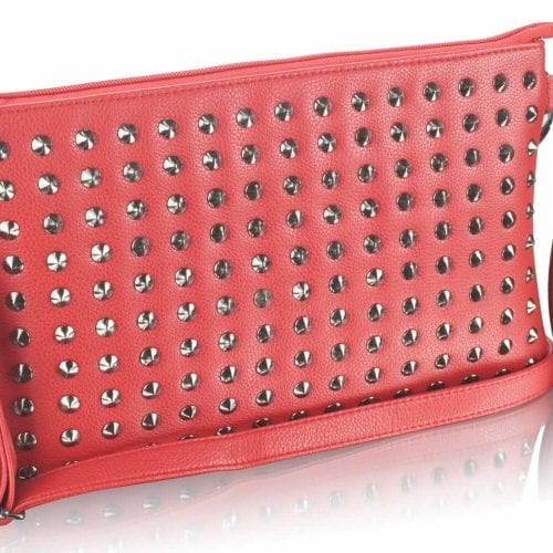 LSE00230 - Red Purse With Stud Detail