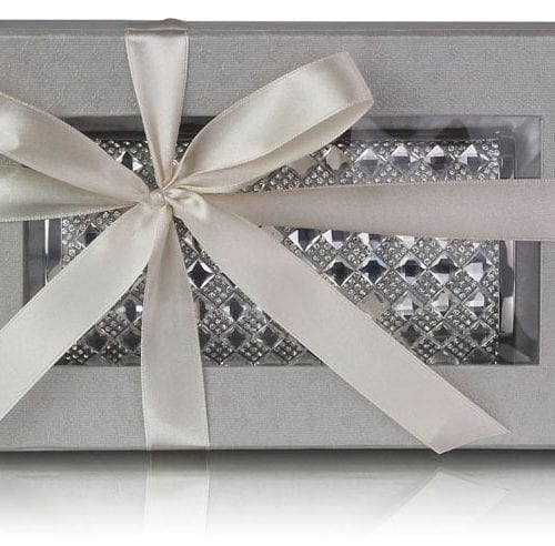 LSE00259 - Silver Crystal Evening Clutch