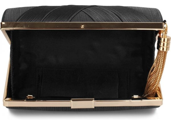 LSE00318 - Black Tassel Clutch