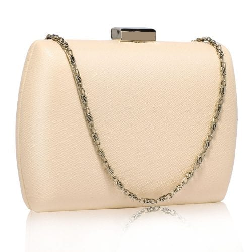 LSE00335 - Nude Hard Case Evening Bag