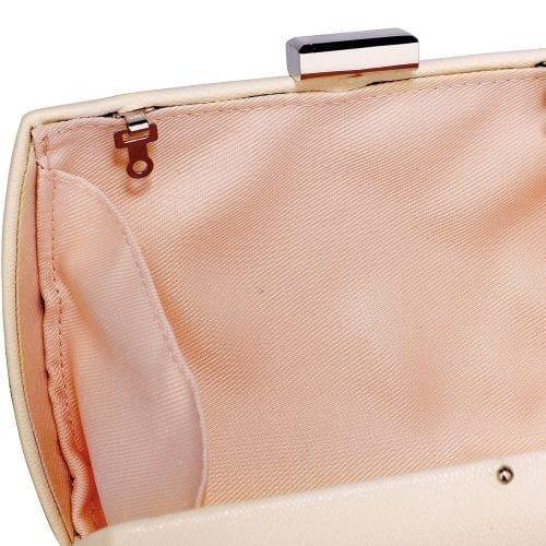 LSE00335 - Nude Hard Case Evening Bag