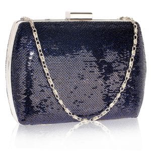 LSE00336 - Navy Sequin Clutch