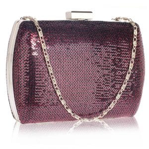 LSE00336 - Purple Sequin Clutch