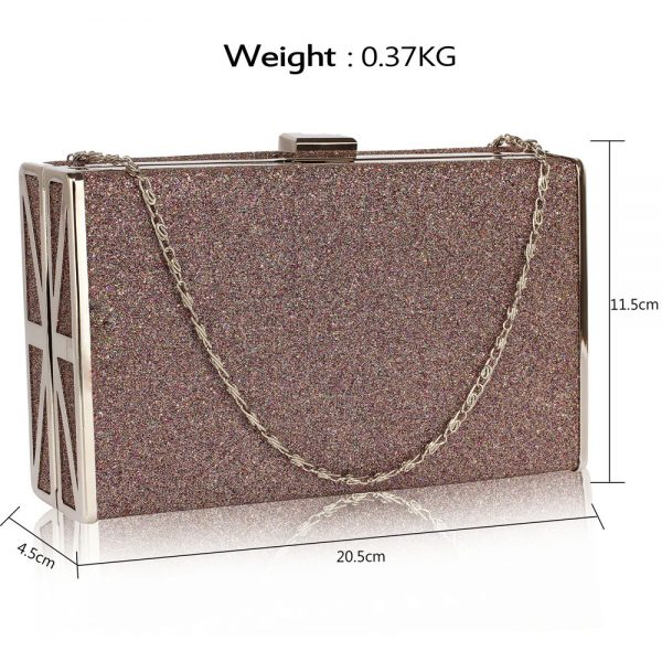 LSE00344 - Multi Glitter Clutch Bag