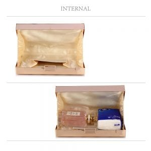 LSE0057A - Gold Hard Metal Box Clutch
