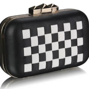LSE0059 - Black/White Hardcase Clutch Bag