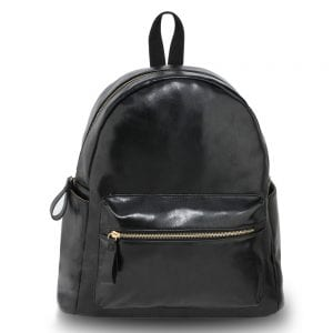 AG00186G - Black Backpack Rucksack School Bag