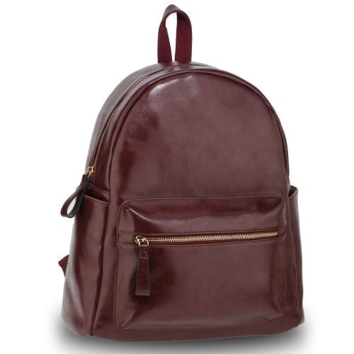 AG00186G - Burgundy Backpack Rucksack School Bag