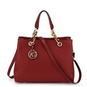 AG00536A - Burgundy Women's Tote Shoulder Bag