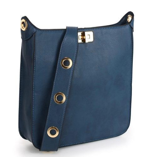 AG00566 - Navy Twist Lock Cross Body Bag