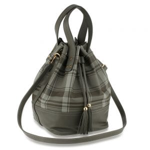 AG00622 - Black Women's Drawstring Bucket Bag
