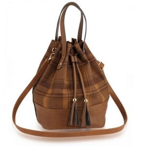 AG00622 - Coffee Women's Drawstring Bucket Bag