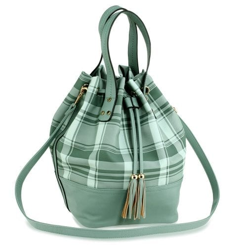 AG00622 - Emerald Women's Drawstring Bucket Bag