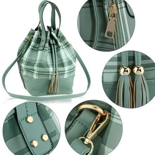 AG00622 - Emerald Women's Drawstring Bucket Bag