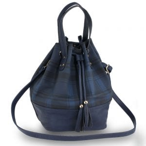AG00622 - Navy Women's Drawstring Bucket Bag