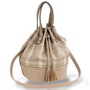 AG00622 - Nude Women's Drawstring Bucket Bag