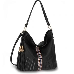 AG00624 - Black Women's Hobo Bag