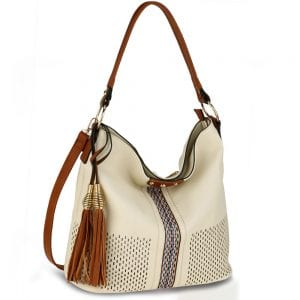 AG00624 - Cream Women's Hobo Bag