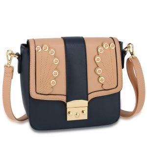 AG00628 - Navy / Pink Cross Body Shoulder Bag