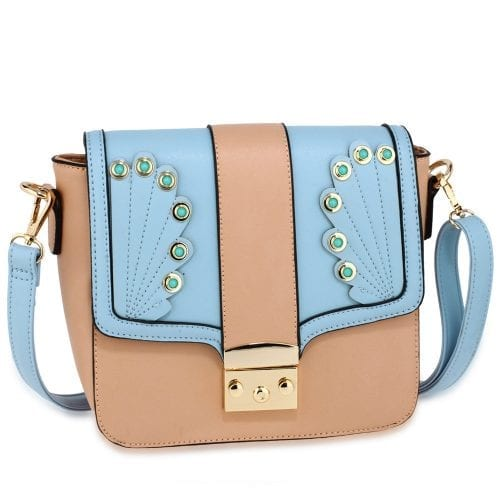 AG00628 - Pink / Blue Cross Body Shoulder Bag