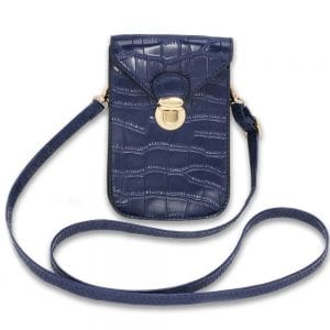 AG00642 - Navy Croc Print Cross Body Shoulder Bag