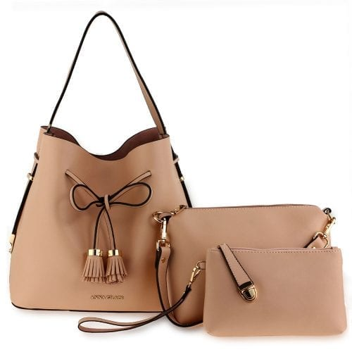 AG00656 - 3 Pieces Set Nude Women's Fashion Handbags