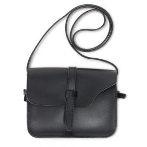 AG00660 - Black Flap Cross Body Shoulder Bag