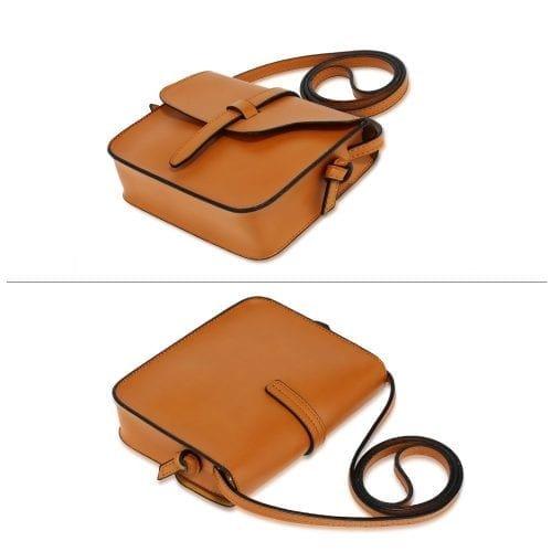 AG00660 - Tan Flap Cross Body Shoulder Bag