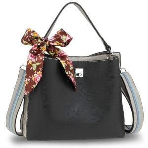 AG00682 - Black / Grey Women's Fashion Tote Bag