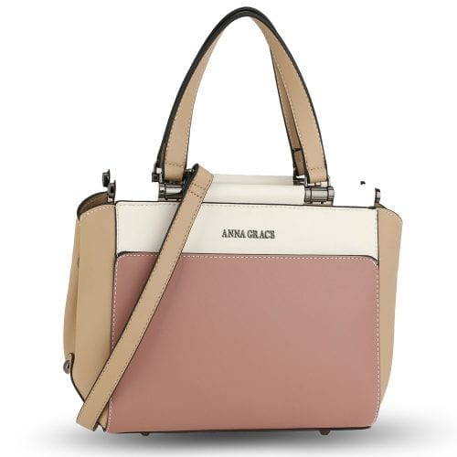 AG00694 - Pink / Beige / Nude Women's Shoulder Handbag