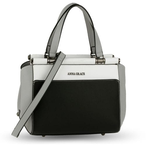 AG00694 - Black / White / Grey Women's Shoulder Handbag