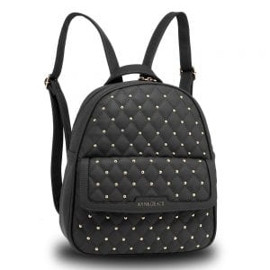 AG00712 - Black Fashion Backpack School Bag