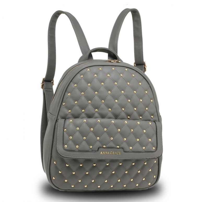 AG00712 - Grey Fashion Backpack School Bag
