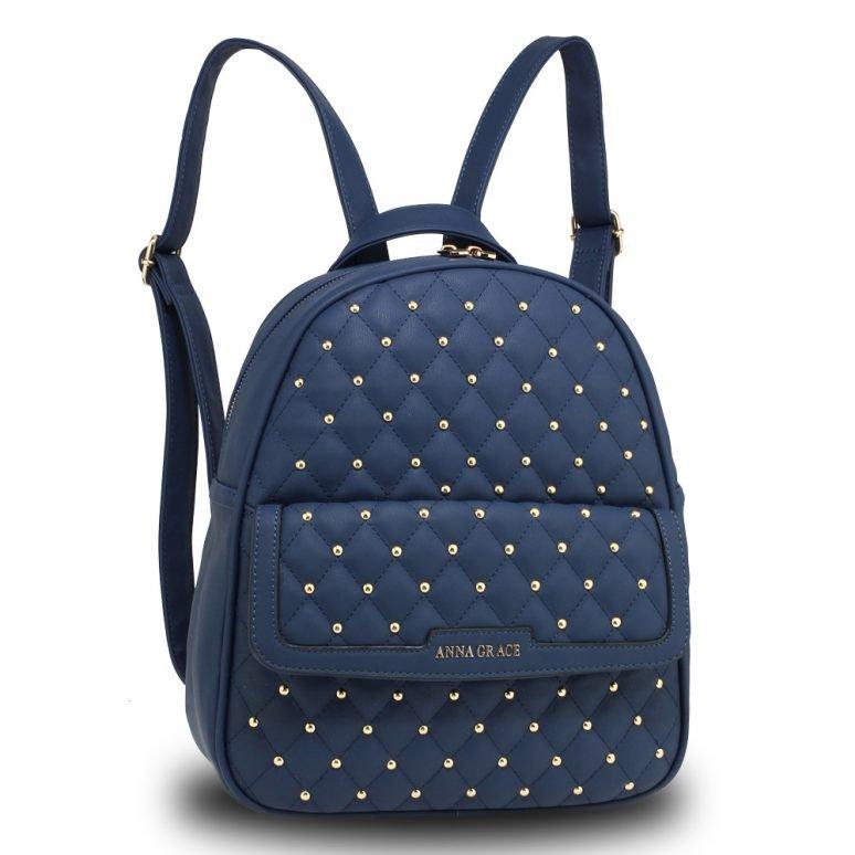 AG00712 - Navy Fashion Backpack School Bag