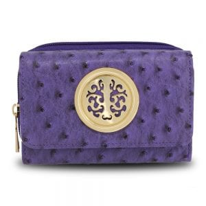 AGP5016 - Purple Ostrich Skin Effect Purse  Wallet