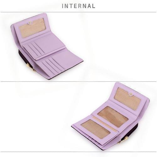 AGP5017 - Purple Patent Purse/Wallet with Metal Decoration